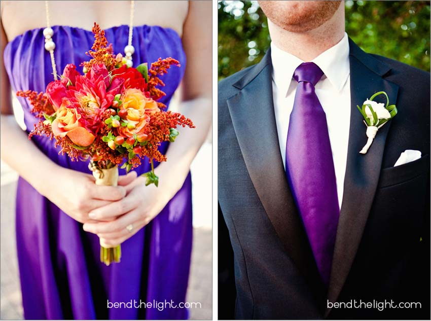 Starting it off with color We have had several purple weddings lately and