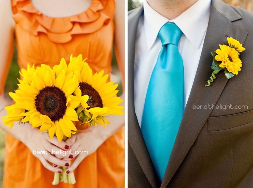 And what could make an orange turquoise wedding even better Yellow