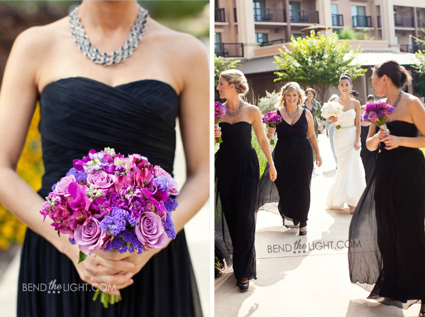 Purple Bridesmaid Flowers Fashion Dresses