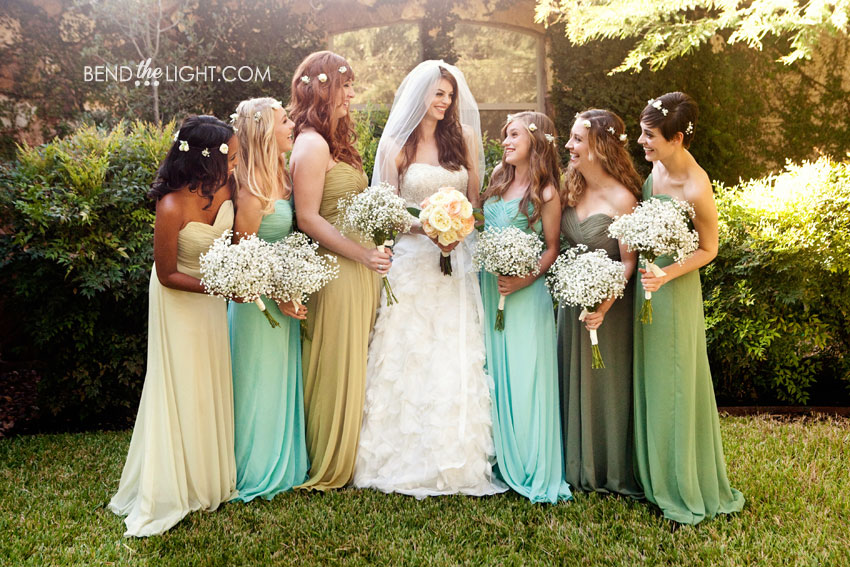 Shades of Champagne Bridesmaid Dresses