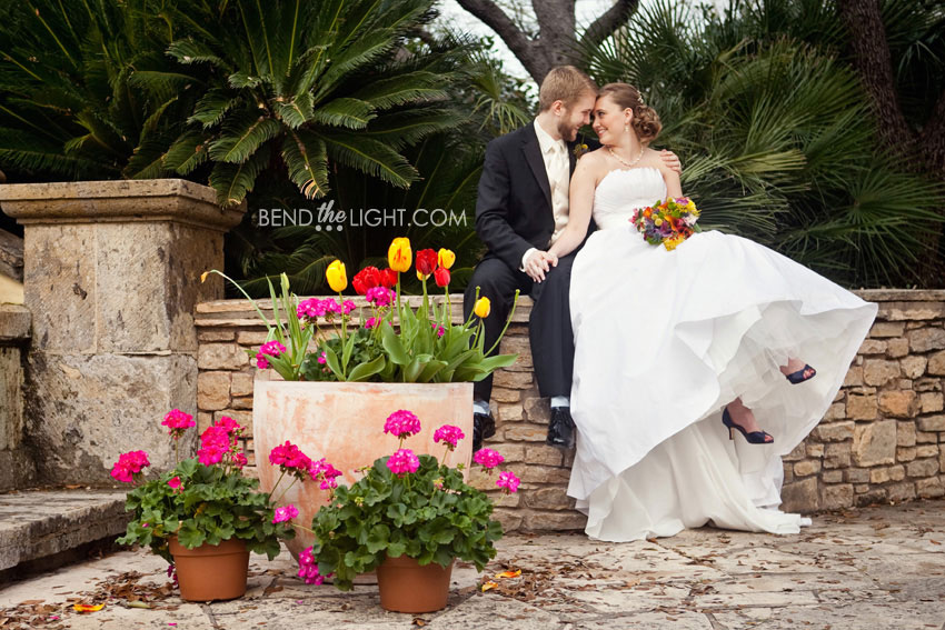 David chelsea parker chapel wedding ceremony trinity - San antonio botanical garden wedding ...