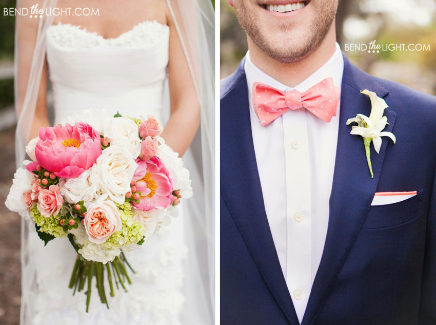 Navy And Coral Wedding Colors: {Our 2 Cents} Add Some Color!! » Bend The Light