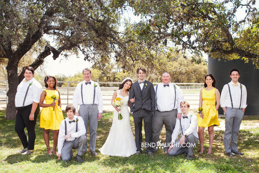 Yellow Bridesmaid Dresses Gray Suits 81