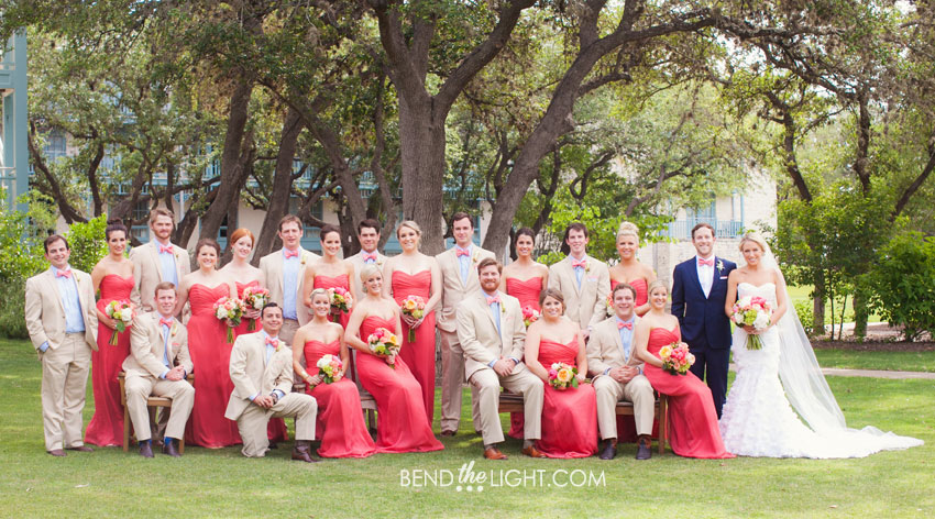 khaki and coral wedding colors pictures to pin on