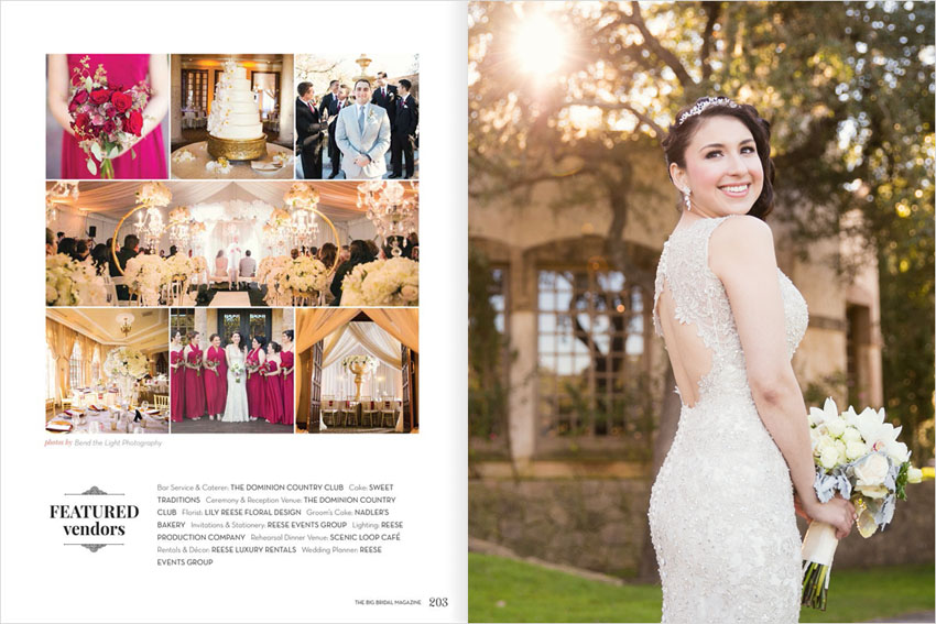 as seen in san antonio weddings magazine bend the light
