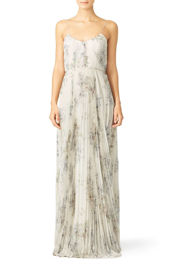 Waleska Printed Chiffon Slip Maxi by Jill Jill Stuart for $90 - $105 only at Rent the Runway