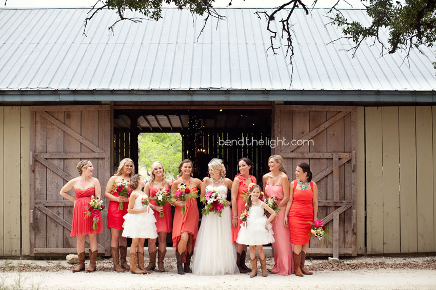 16 C And Pink Poppy Bridesmaid Dresses Barn Cowboy Boots Bridesmaids Wedding Bride Kendall Creek Don Strange Ranch Pics Bend The Light