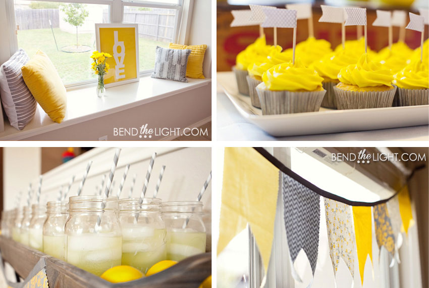 3a Yellow Grey Baby Shower Bridal Wedding Color Scheme Colors Silver Gray White