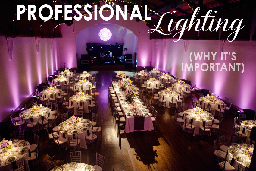 tips for clients wedding reception lighting bend the light