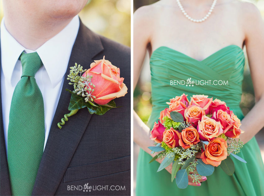 5a-green-orange-bridesmaids-wedding-color-scheme-wedding-photos ...